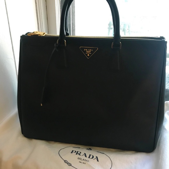 New Prada Saffiano Large Executive Tote Bag a24d400cbf9e5